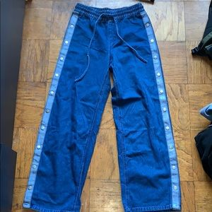 Missguided open side snap denim jeans size 6